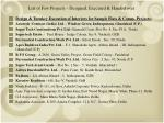 list of few projects designed executed handed over7