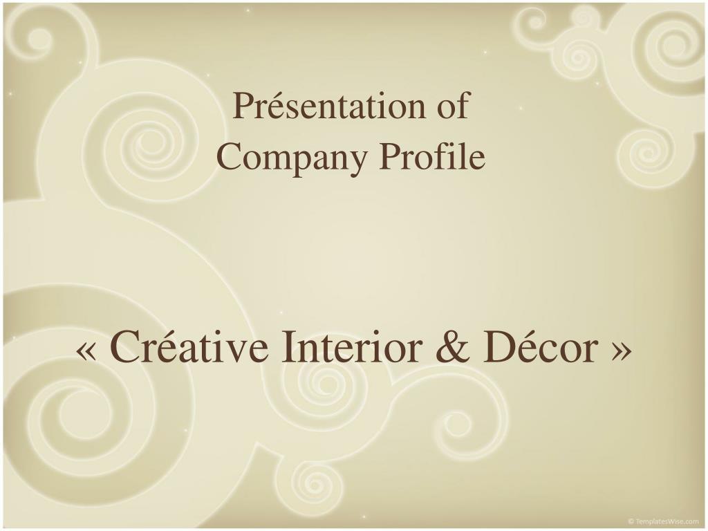 pr sentation of company profile