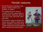 finnish costume