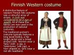 finnish western costume