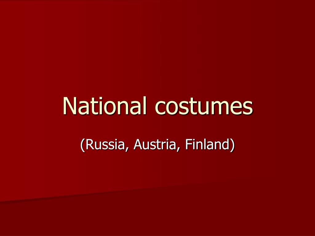 national costumes l.