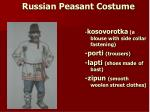 russian peasant costume