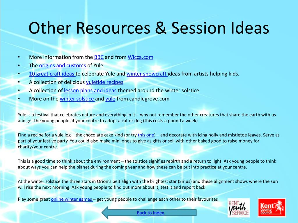 Other Resources & Session Ideas