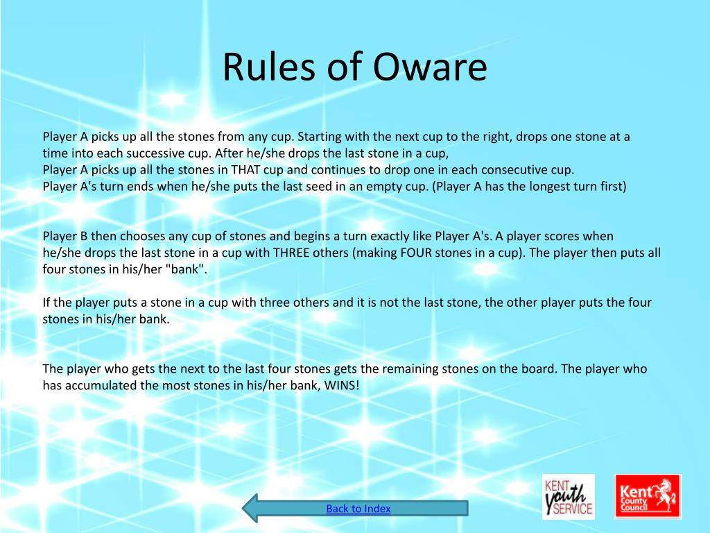 Rules of Oware