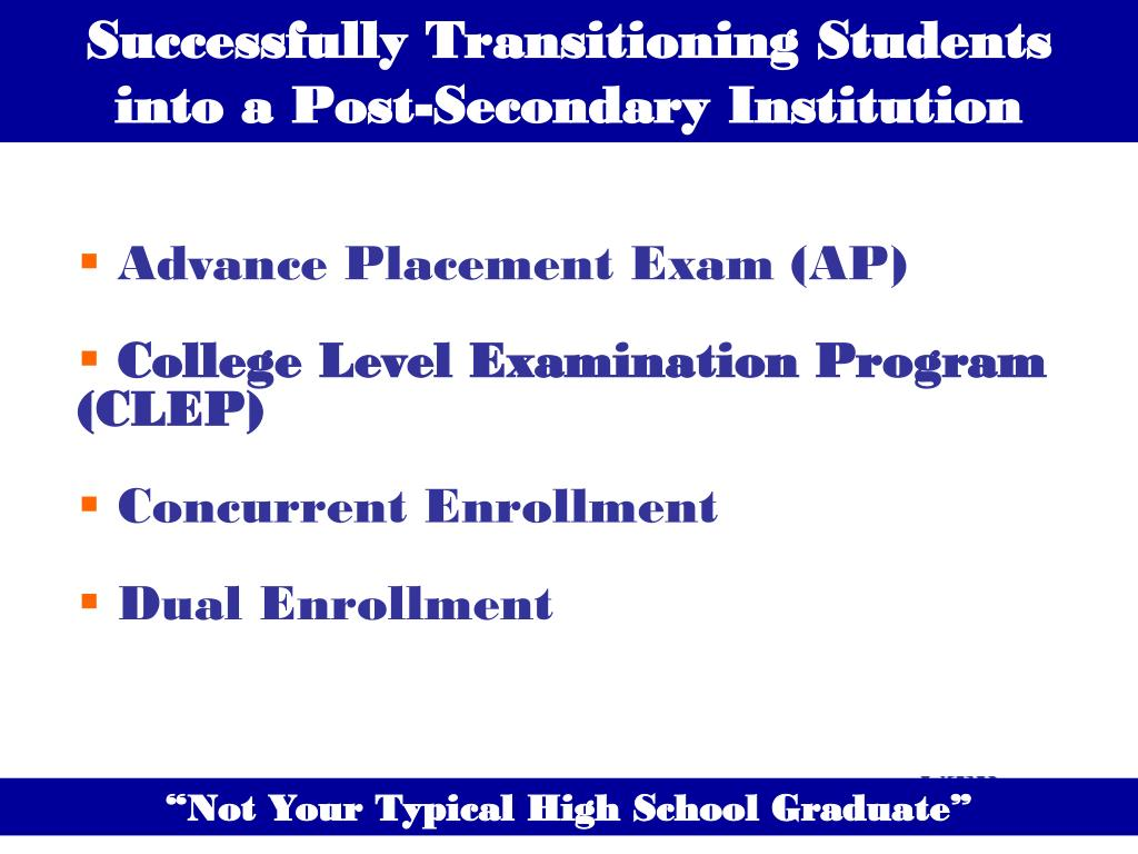 Successfully Transitioning Students