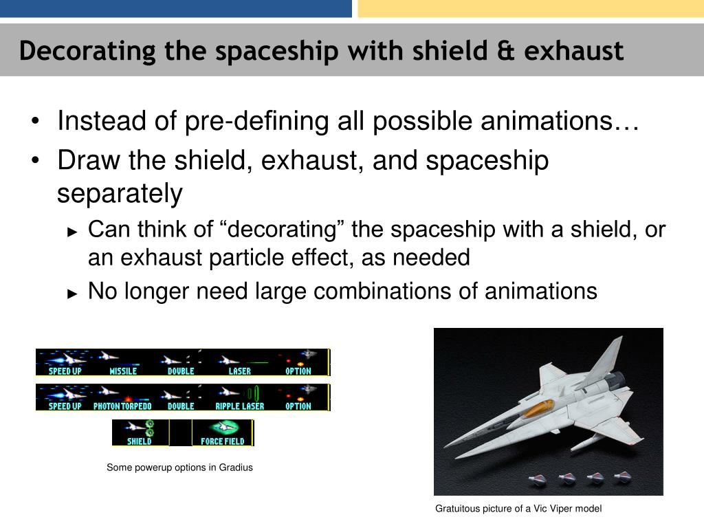 Decorating the spaceship with shield & exhaust