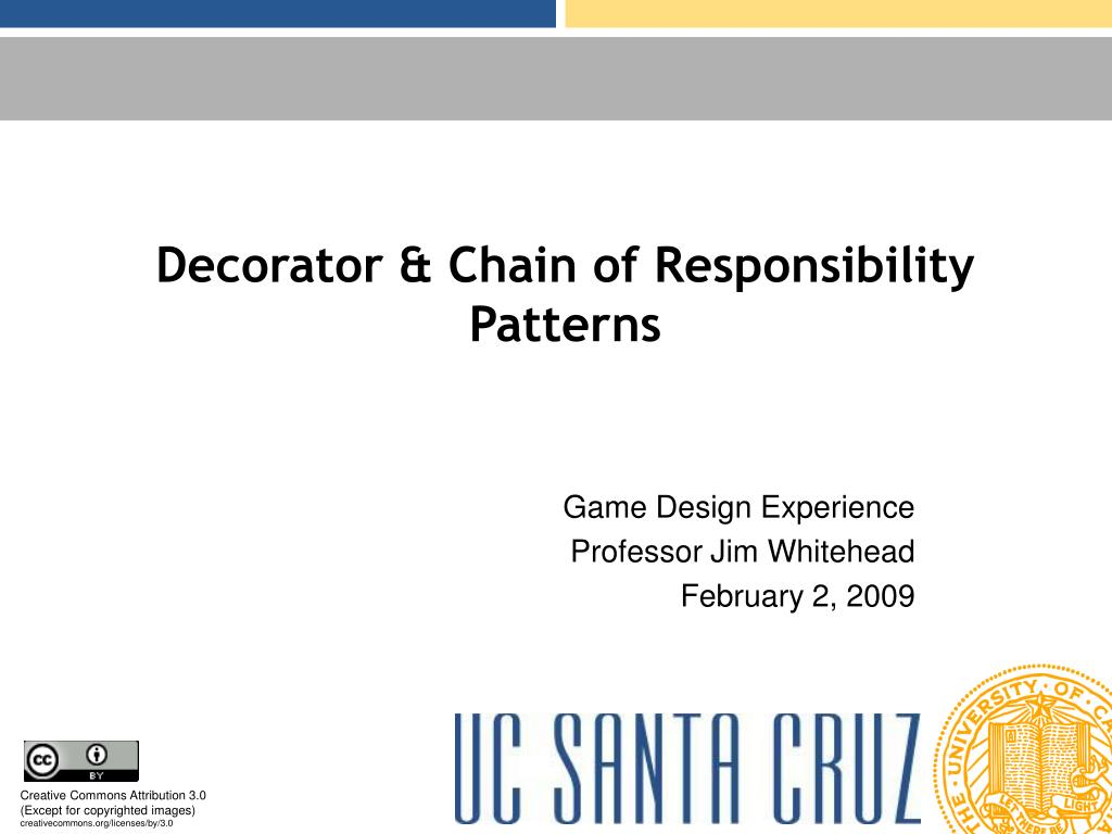 Decorator & Chain of Responsibility Patterns