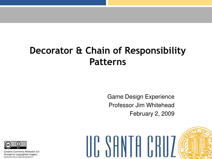 Decorator chain of responsibility patterns