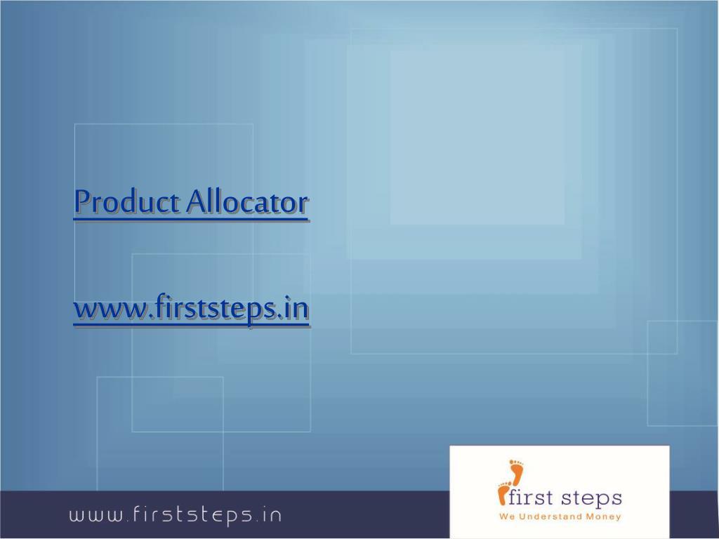 Product Allocator