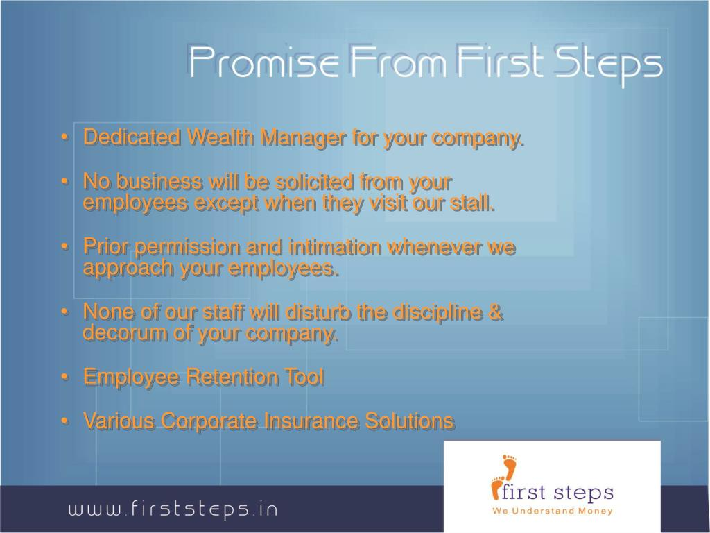 Promise From First Steps