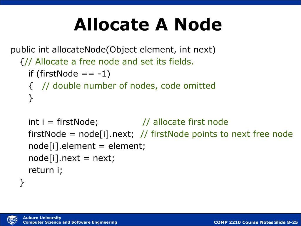 Allocate A Node