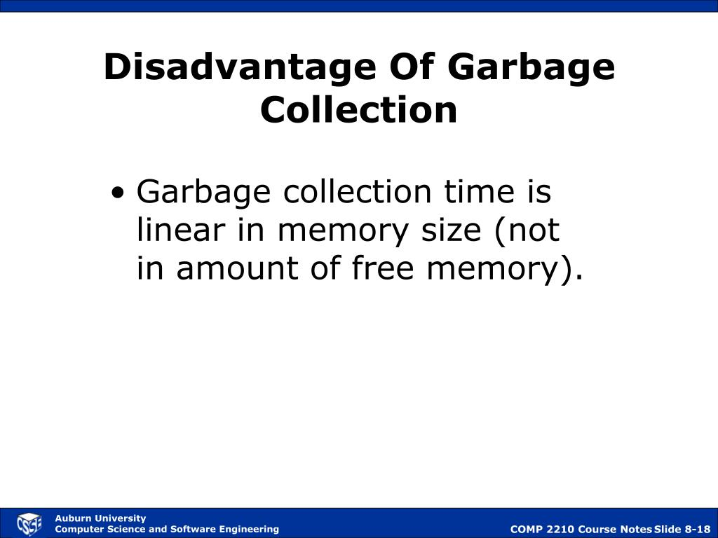 Disadvantage Of Garbage Collection