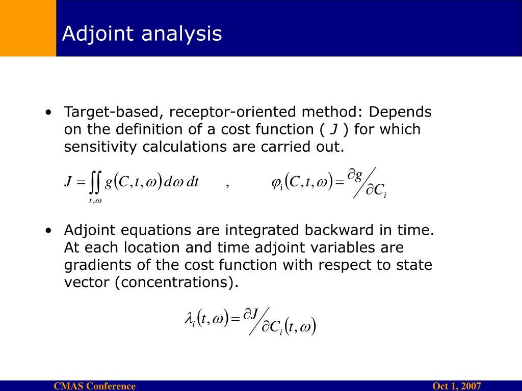 Adjoint analysis
