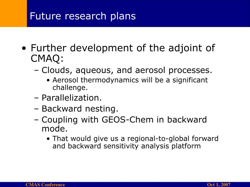 Future research plans