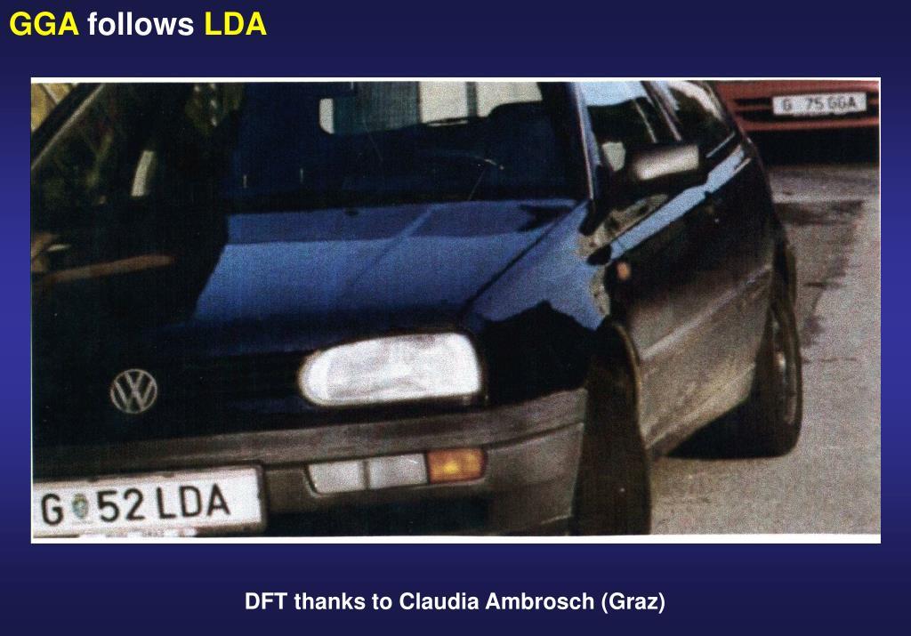 DFT thanks to Claudia Ambrosch (Graz)
