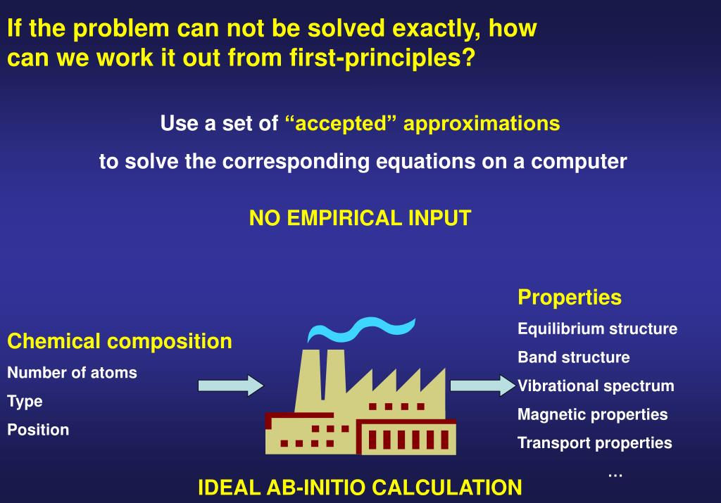If the problem can not be solved exactly, how can we work it out from first-principles?