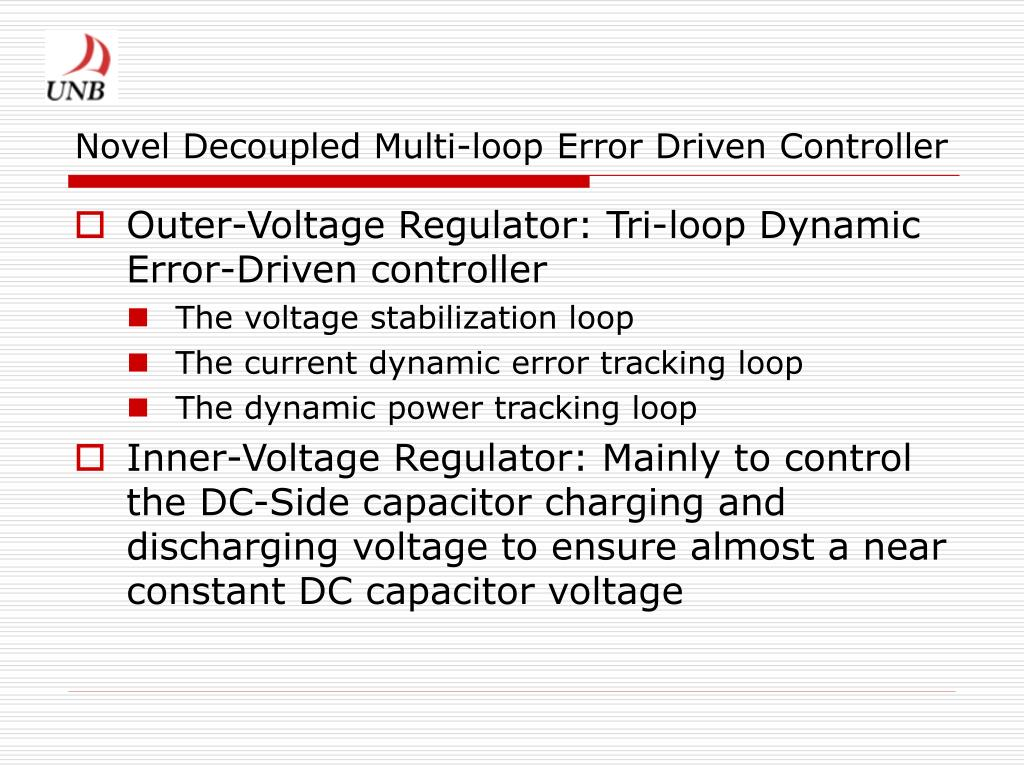 Novel Decoupled Multi-loop Error Driven Controller