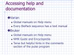 accessing help and documentation