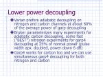 lower power decoupling