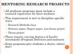 mentoring research projects