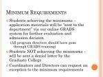 minimum requirements8