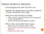 thesis approval process