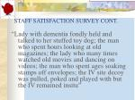 staff satisfaction survey cont