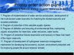priority order action plans according to national strategy on water resources to 202019