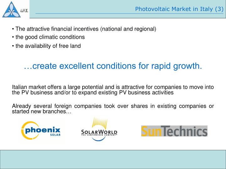 Photovoltaic Market in Italy (3)