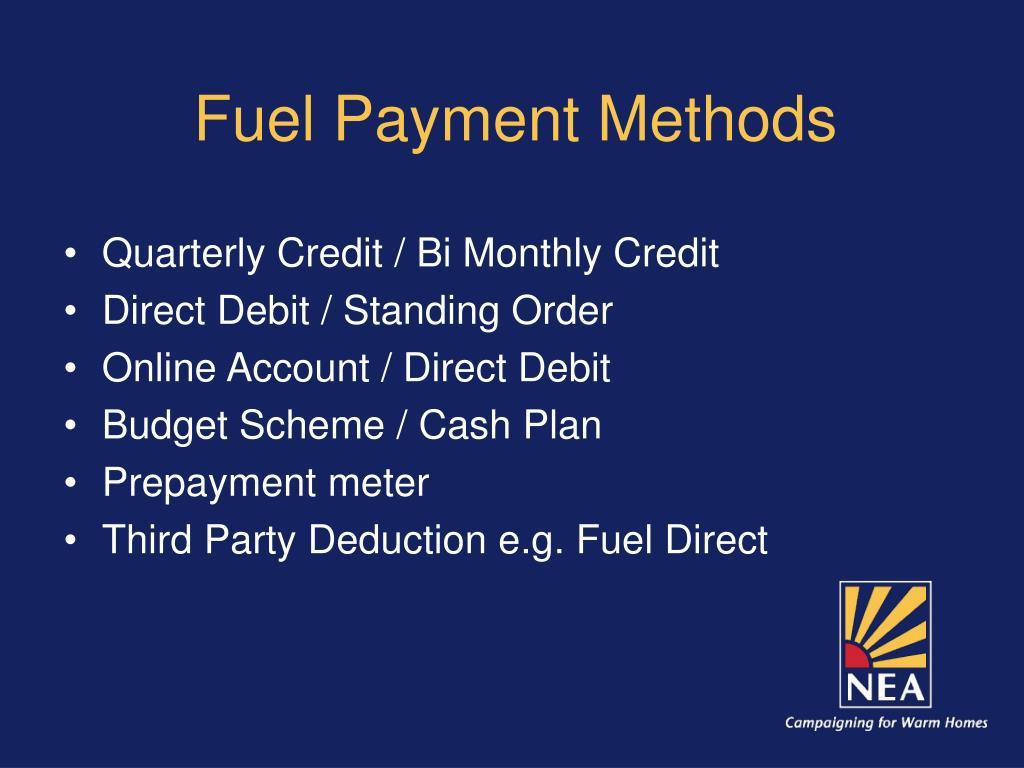 Fuel Payment Methods