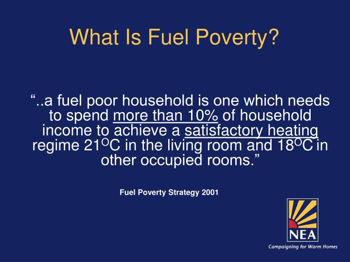 What is fuel poverty