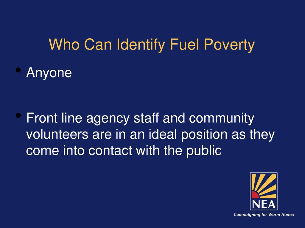 Who Can Identify Fuel Poverty