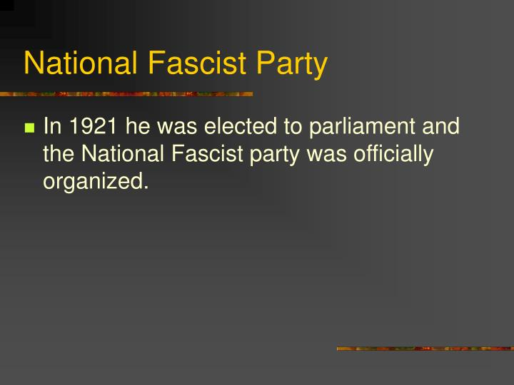 National Fascist Party
