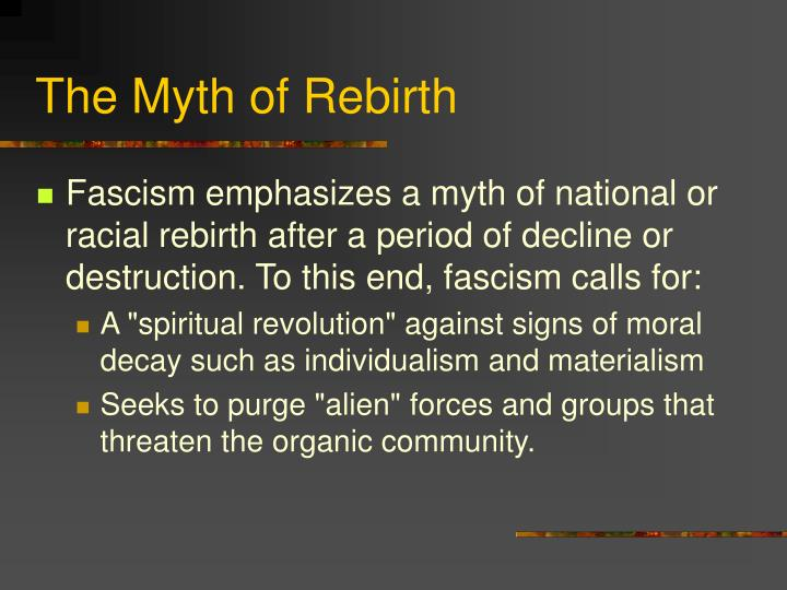 The Myth of Rebirth