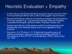 heuristic evaluation empathy