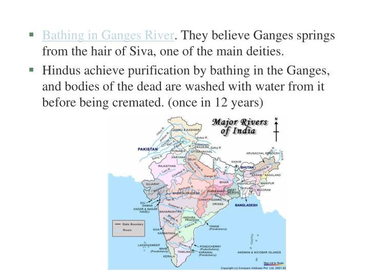 Bathing in Ganges River