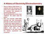 a history of electricity electrochemistry