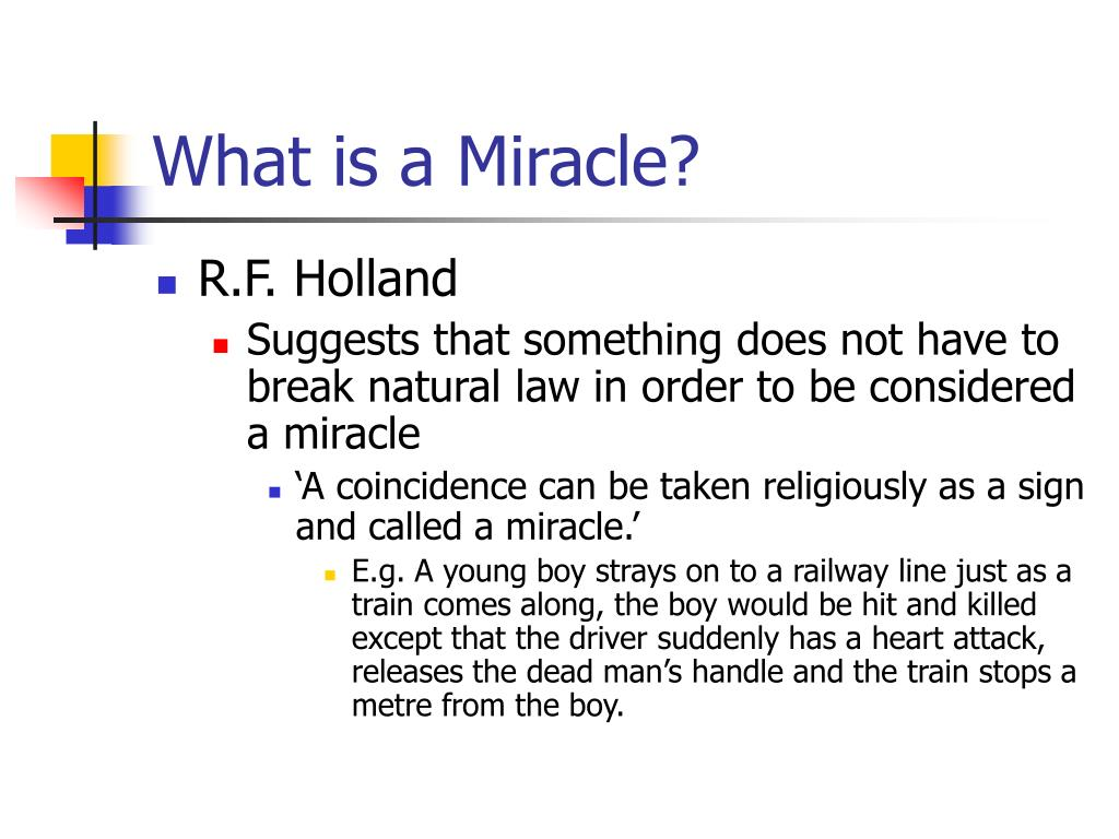 What is a Miracle?