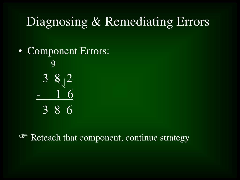 Component Errors:
