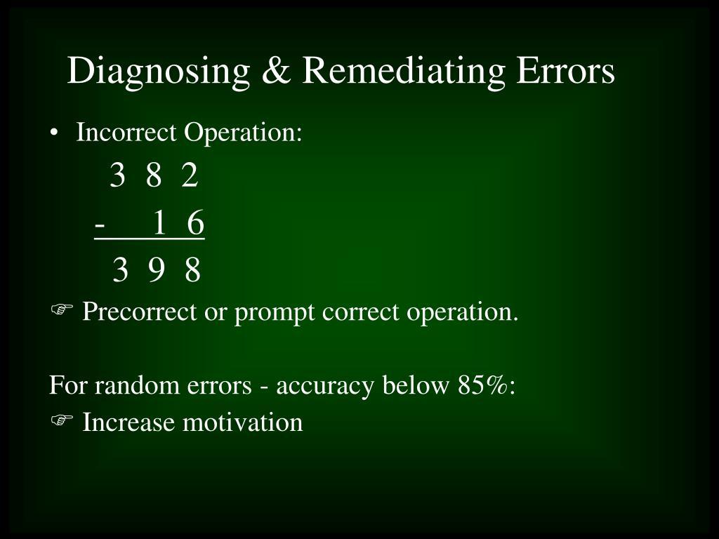 Incorrect Operation: