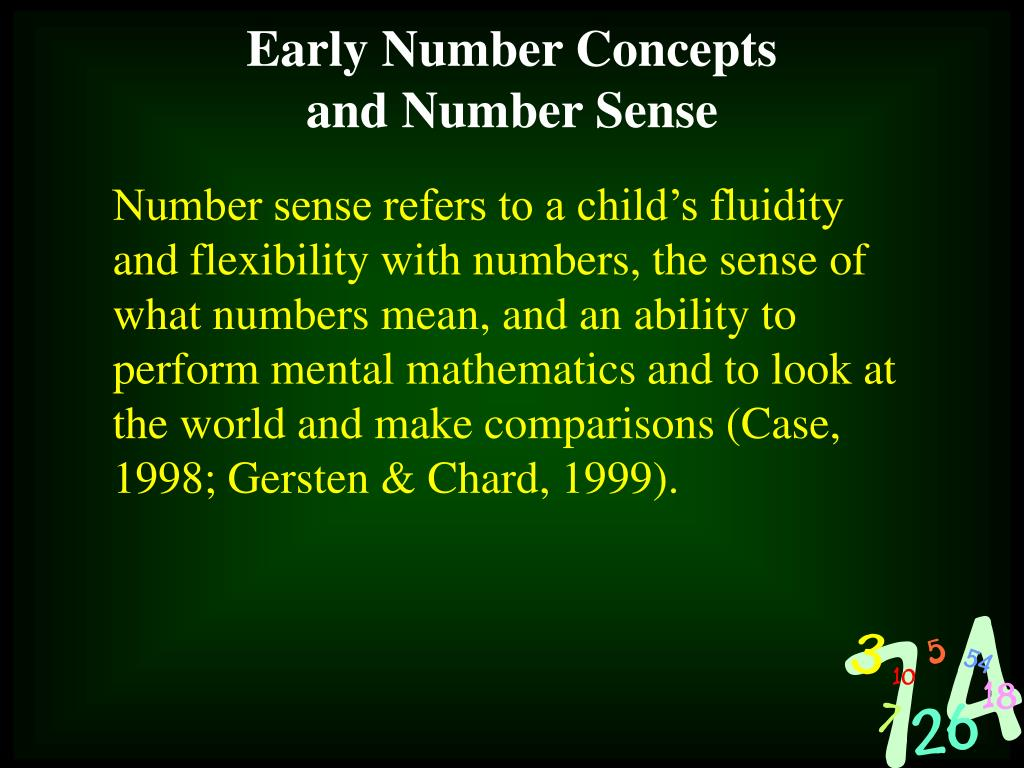 Early Number Concepts