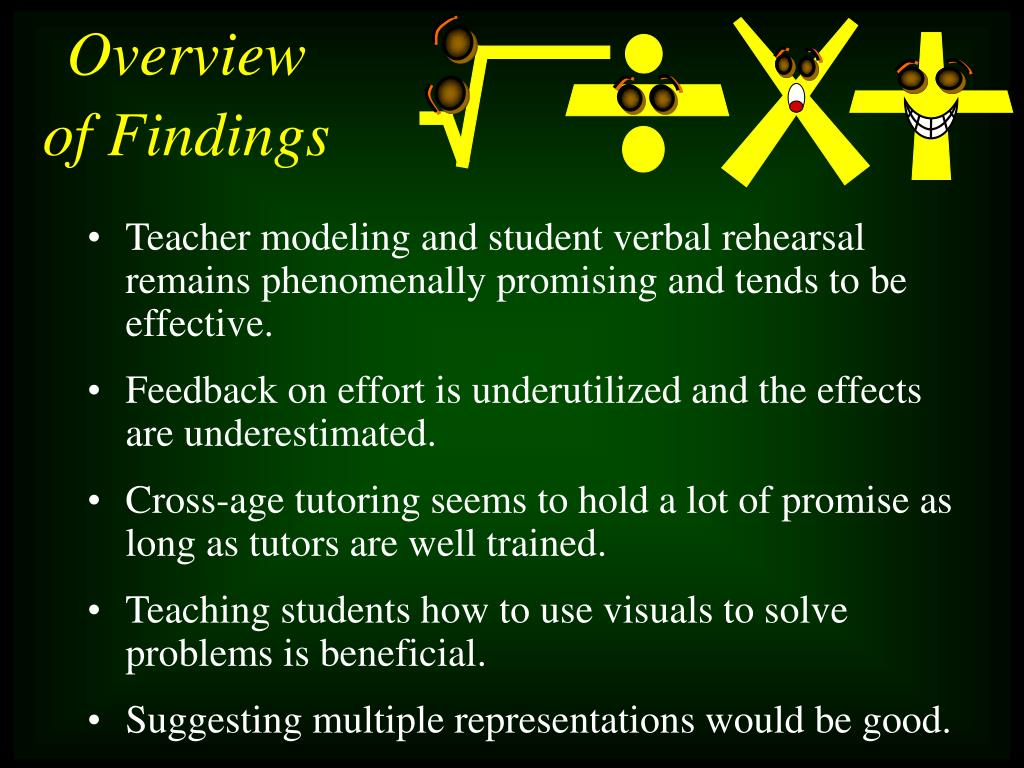 Teacher modeling and student verbal rehearsal remains phenomenally promising and tends to be effective.