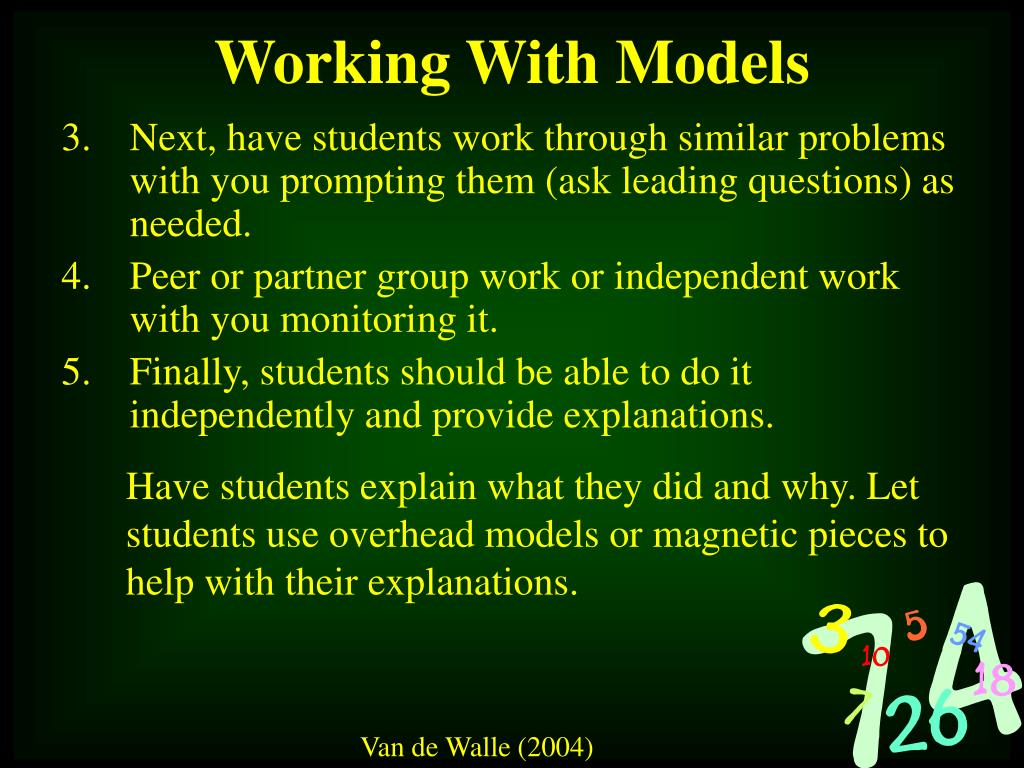 Next, have students work through similar problems with you prompting them (ask leading questions) as needed.