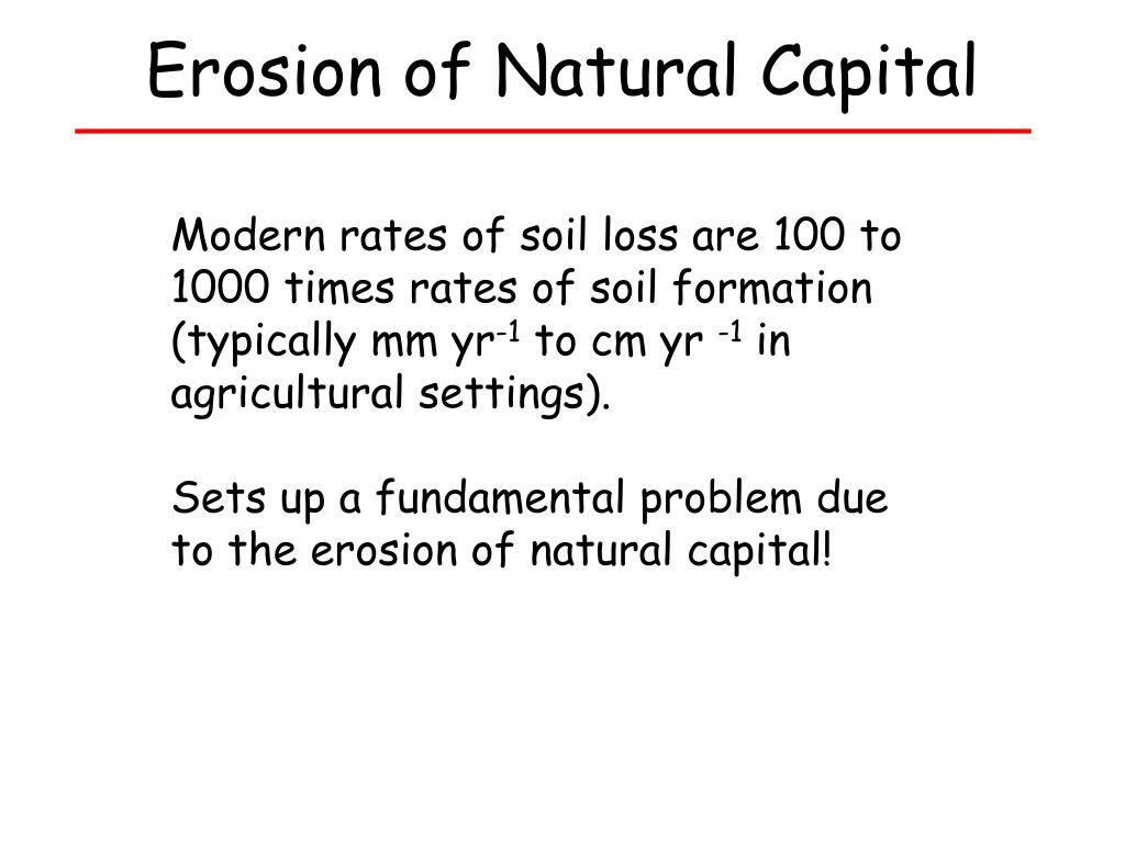 Erosion of Natural Capital