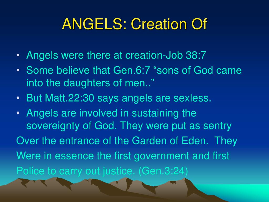 ANGELS: Creation Of