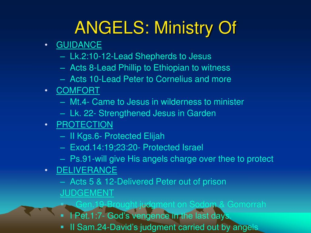 ANGELS: Ministry Of