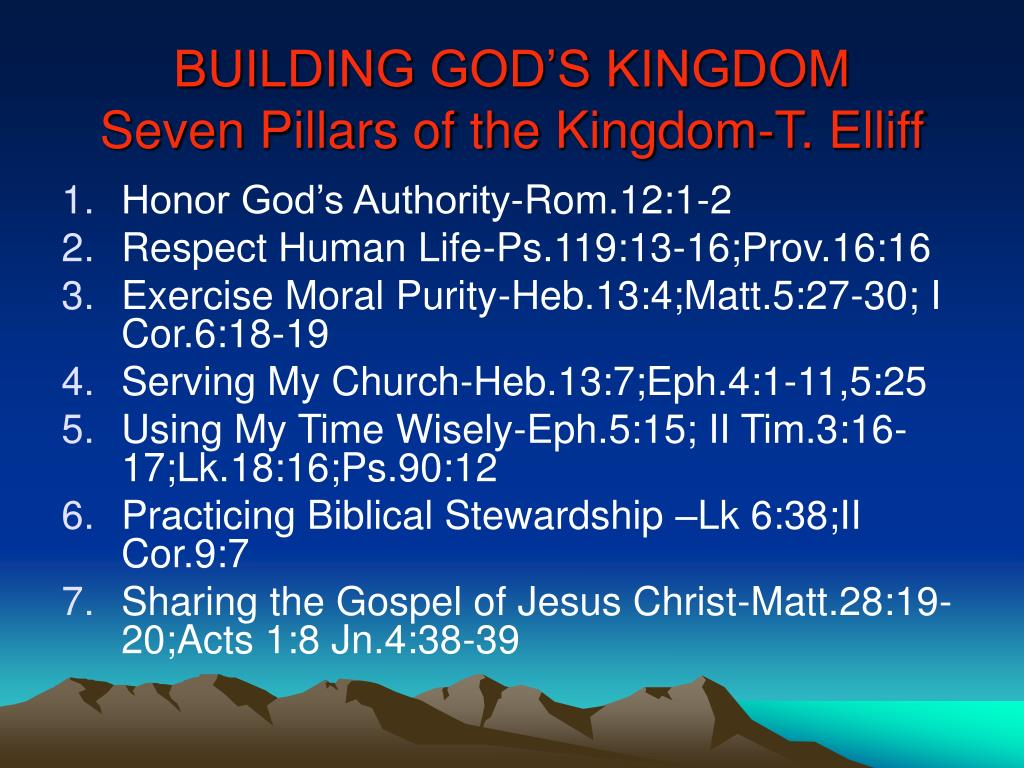 BUILDING GOD'S KINGDOM