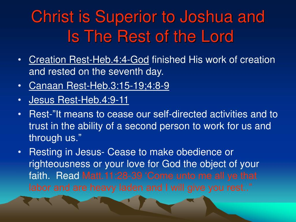 Christ is Superior to Joshua and