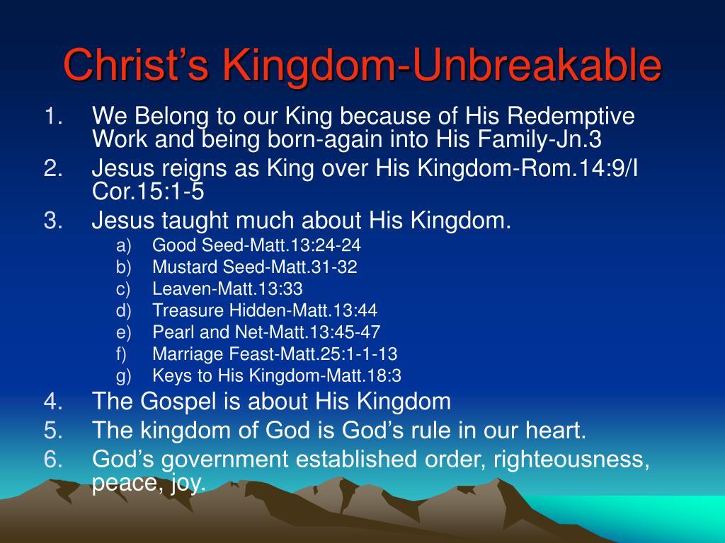 Christ's Kingdom-Unbreakable