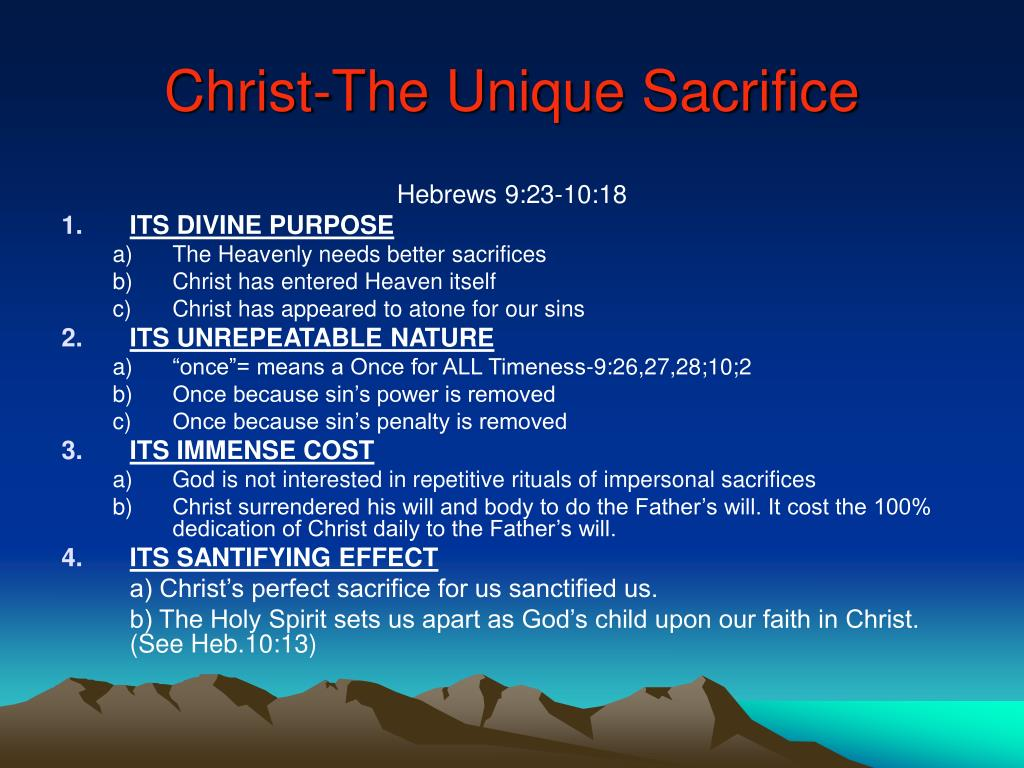 Christ-The Unique Sacrifice